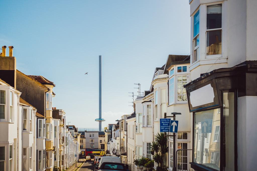 Brighton | Blick auf New Brighton Tower, Brighton, England
