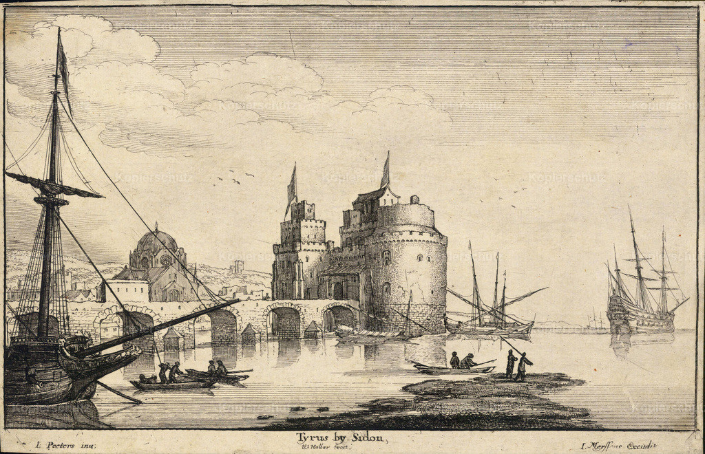 Wenceslas_Hollar_-_Tyre_near_Sidon