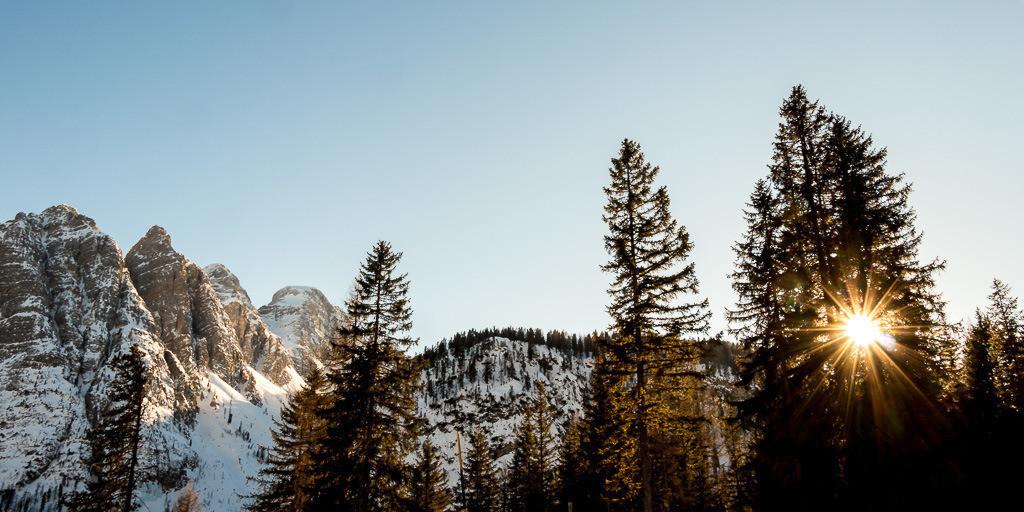 Morgenstimmung in den Dolomiten
