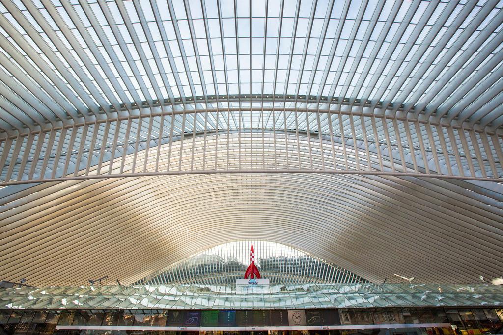 JT-121213-613   Der Bahnhof von Lüttich, Gare de Liège-Guillemins, entworfen vom spanischen Architekten Santiago Calatrava. Lüttich, Wallonie, Belgien, Europa.