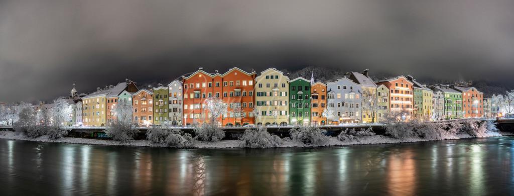 Mariahilf   Schneebedecktes Innsbruck