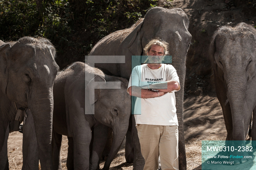 MW0310-2382   Thailand   Mae Sapok   Bodo Jens Förster   Elephant Special Tours   Februar 2010  ** Feindaten bitte anfragen bei Mario Weigt Photography, info@asia-stories.com **