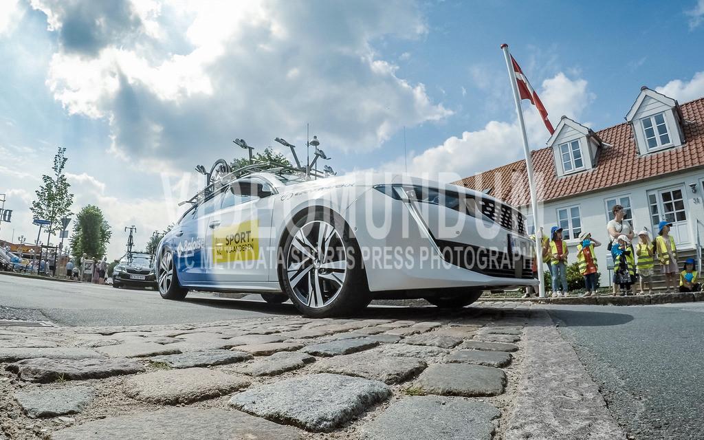 31st PostNord Danmark Rundt - Tour of Denmark 2021, Stage 03 Tonder - Vejle; Logumkloster, 12.08.2021 | 31st PostNord Danmark Rundt - Tour of Denmark 2021, Stage 03 Tonder - Vejle; Logumkloster, 12.08.2021, Sport Vlaanderen - Baloise team service car