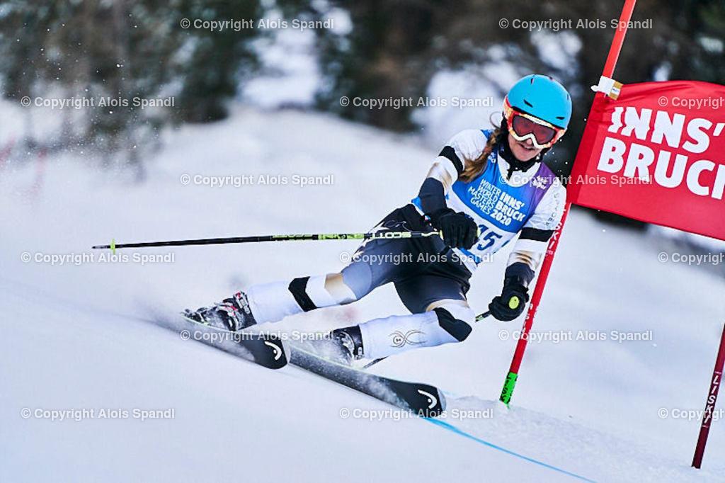 ALS5901_WWMG_GS-II_C | (C) FotoLois.com, Alois Spandl, WinterWorldMastersGames 2020 Innsbruck, Giant Slalom-II Gruppe C Damen, Patscherkofel Olympiaabfahrt, Mi 15. Jänner 2020.