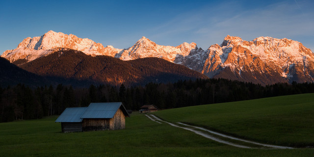 Letztes Leuchten | Sonnenuntergang in den Alpen