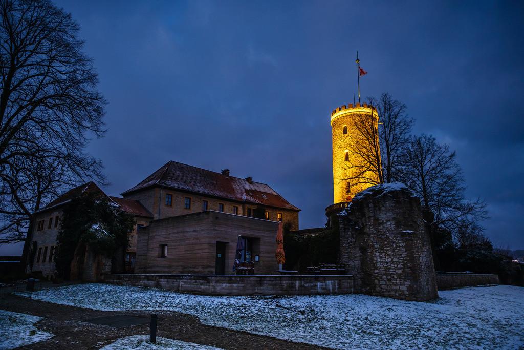 Wintermorgen auf der Sparrenburg | Wintermorgen im Januar auf der Sparrenburg in Bielefeld.
