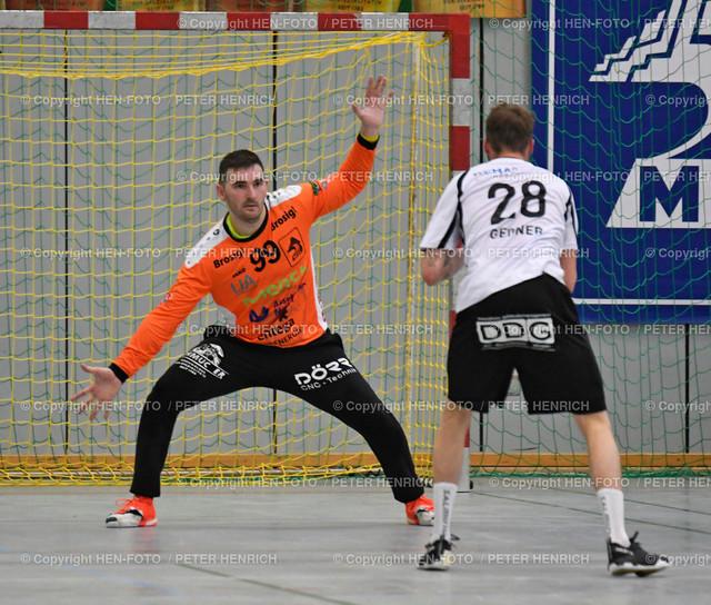Handball Gross Bieberau Modau - Baunatal 20190824 copyright by HEN-FOTO | Handball 3. Liga Bieberau Modau - Baunatal 20190824 li 99 TW Martin Juzbasic (BM) re 28 Felix Gessner (B) copyright by HEN-FOTO Foto: Peter Henrich