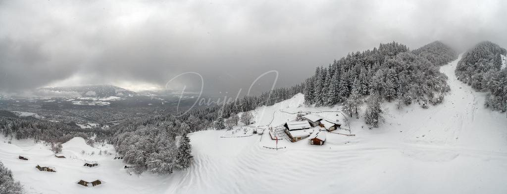 Arzler Alm   Winterpanorama von der Arzler Alm