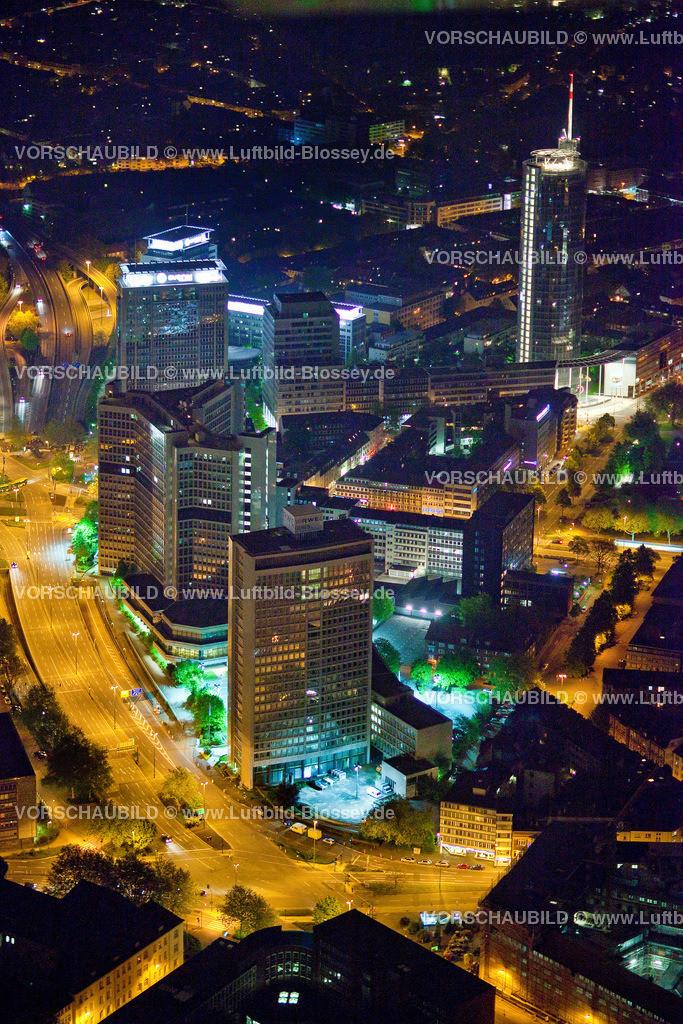 ES10052727 | City Essen RWE-Hochhaus bei Nacht RWE,  Essen, Ruhrgebiet, Nordrhein-Westfalen, Germany, Europa, Foto: hans@blossey.eu, 14.05.2010