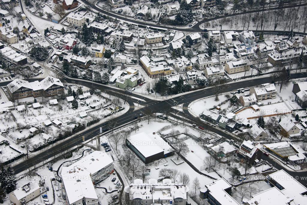KT10011058 | Schnee,  Kettwig, Essen, Ruhrgebiet, Nordrhein-Westfalen, Deutschland, Europa, Foto: Luftbild Hans Blossey, Copyright: hans@blossey.eu, 06.01.2010, E 006° 56' 40.42