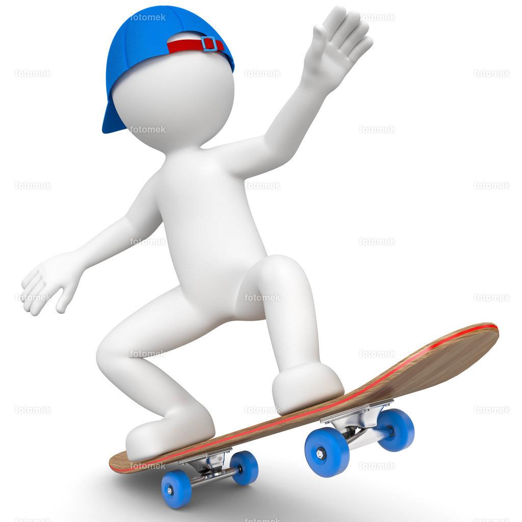 3d Männchen als Skater