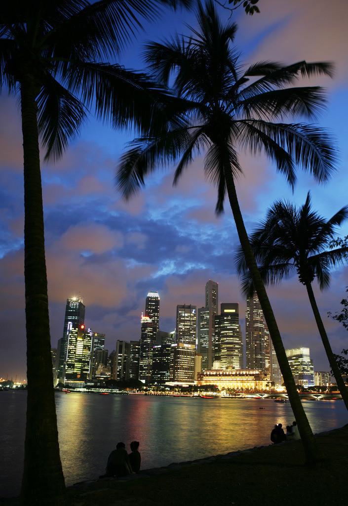 Singapore Skyline | Singapore: Skyline der Innenstadt, Finanzzentrum