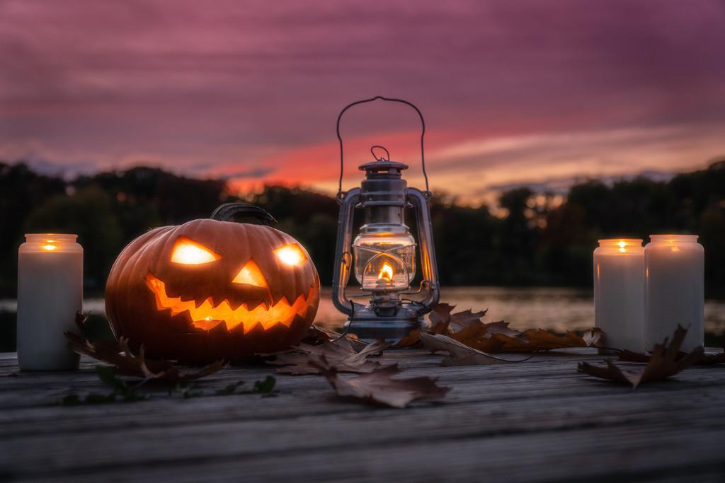 Halloween am See