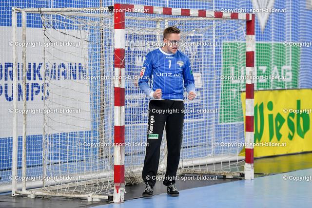 AUT, HLA, HC Linz AG vs Schwaz Handball Tirol   09.10.2021, Sporthauptschule Linz-Kleinmuenchen, AUT, HLA, HC Linz AG vs  Schwaz Handball Tirol, im Bild Markus Bokesch (Linz)
