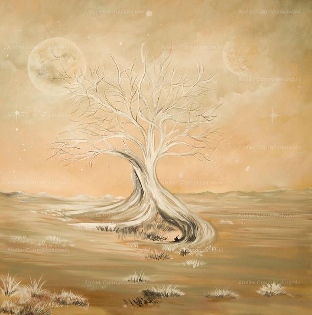 elfenbeinbaum35 | Phantastischer Realismus aus dem Atelier Conny Krakowski. Verkäuflich als Poster, Leinwanddruck und vieles mehr.