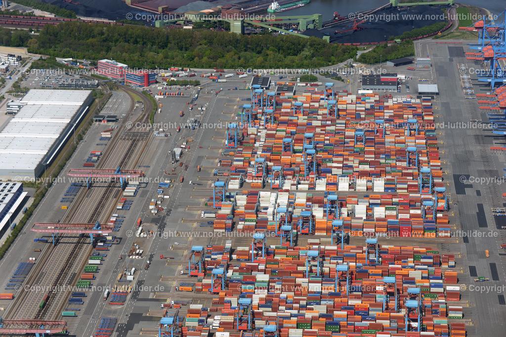 Hamburg Altenwerder_CTA_HHLA_ELS_0691110517 | Hamburg - Aufnahmedatum: 11.05.2017, Aufnahmehöhe: 561 m, Koordinaten: N53°29.403' - E9°56.113', Bildgröße: 7360 x  4912 Pixel - Copyright 2017 by Martin Elsen, Kontakt: Tel.: +49 157 74581206, E-Mail: info@schoenes-foto.de  Schlagwörter:Altenwerder,HHLA,CTA,Container Terminal,Container,Automatisiert,Luftbild, Luftbilder,