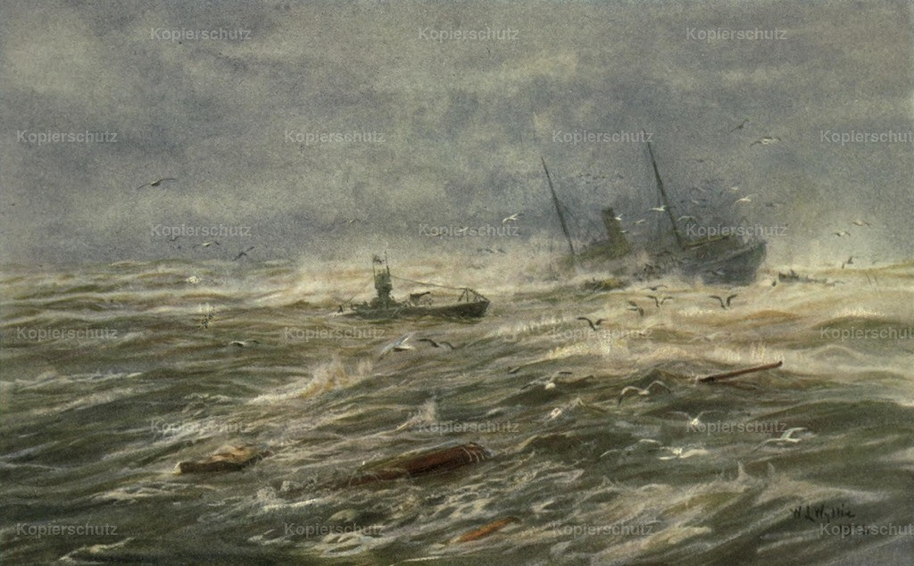 Wyllie_ William (1851-1931) - More Sea-fights of the Great War 1919 - The Brutal Hun