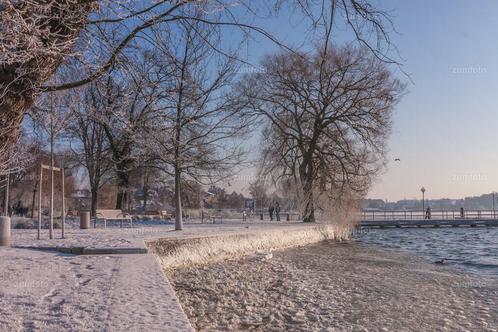 an der Kietbrücke im Winter