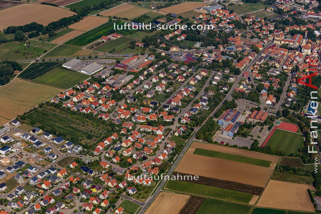uffenheim-19-727   aktuelles Luftbild von  Uffenheim - Luftaufnahme wurde 2019 von https://frankenair.de mittels Flugzeug (keine Drohne) erstellt.
