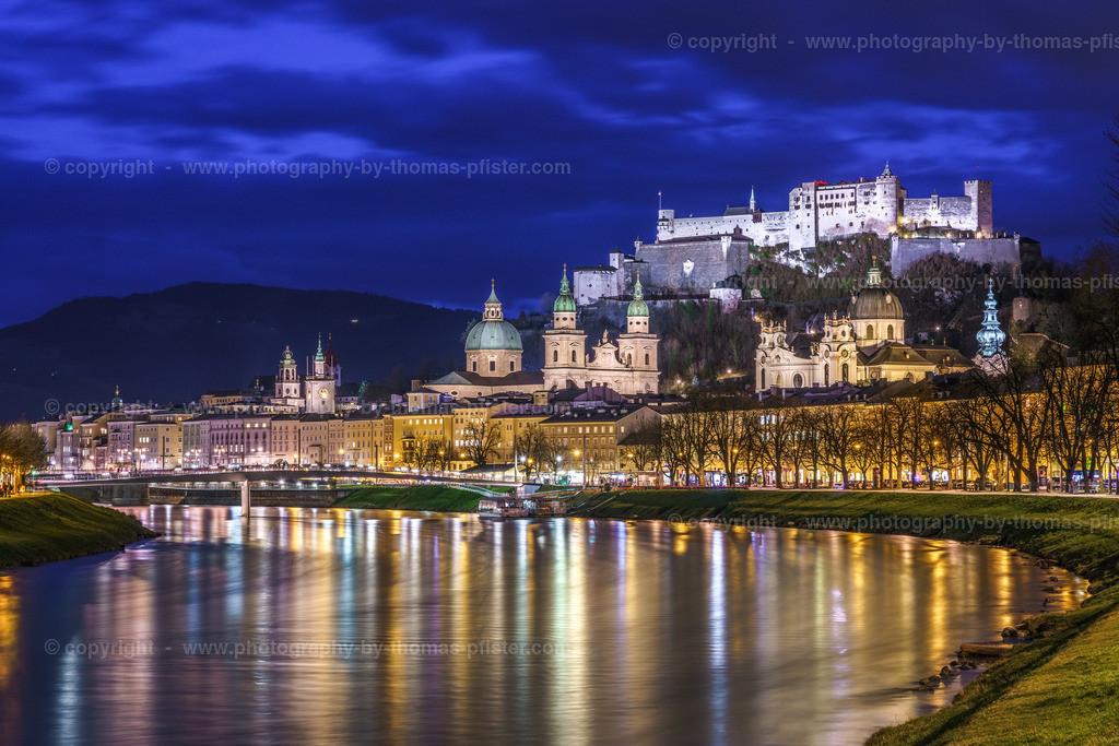 Salzburg Blaue Stunde an der Salzach-4