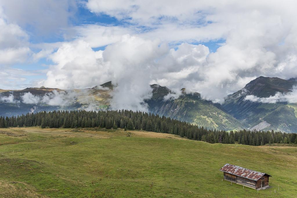 Hütte in den Schweizer Alpen