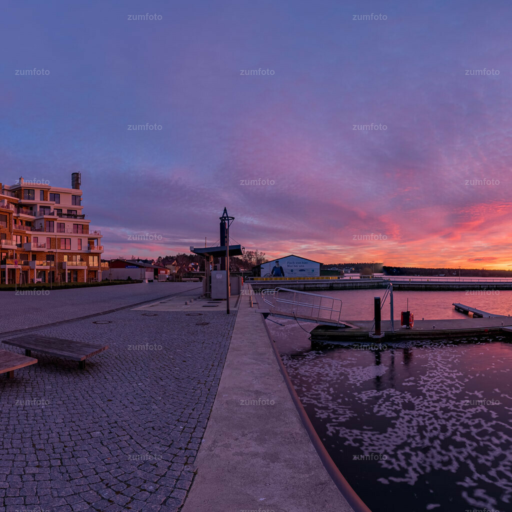 200205_1714-9590-HDR-Pano-2 | Wer von euch hat denn heute Abend auch den schönen Sonnenuntergang gesehen? Wünsche euch einen schönen Abend! Sonnenuntergang am Warener Stadthafen.