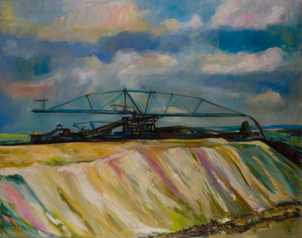 Die Förderbrücke | Originalformat: 80x100cm  -  Produktionsjahr: 2009