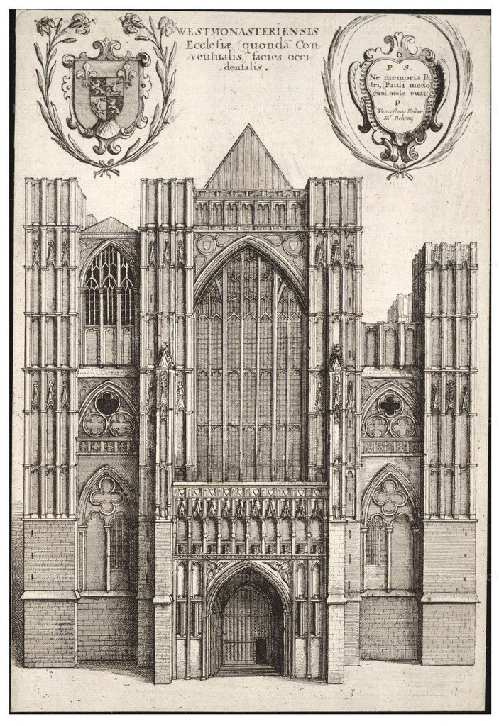 Wenceslas_Hollar_-_Westminster_Abbey._West_front