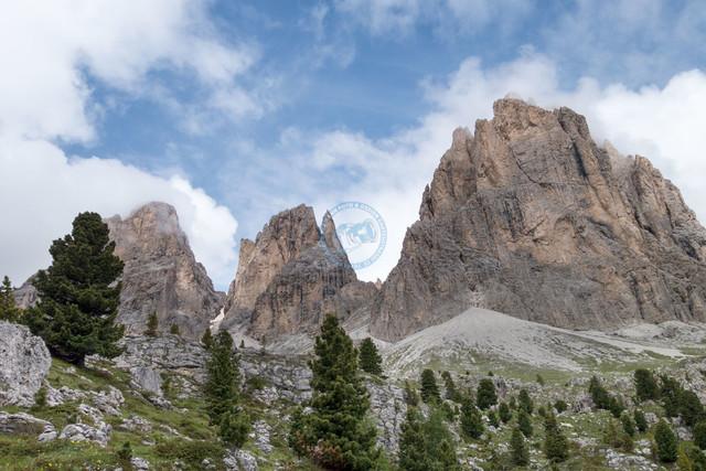 Sellamassiv Sella Ronda Landschaft Sellatürme   ITA, Italien, Südtirol, Dolomiten, Sella Rondo, 15.07.2014, Sella Rondo Landschaft