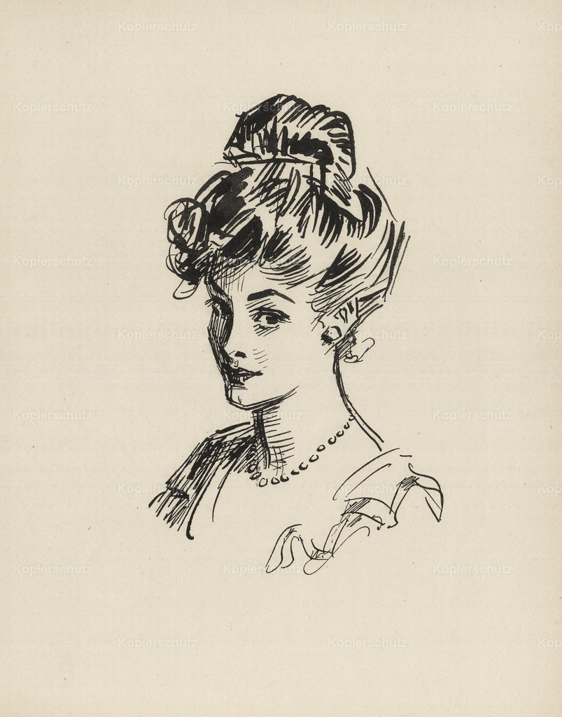 Gibson_ Charles Dana (1867-1944) - Gibson New Cartoons 1916 - Girl with necklace 4