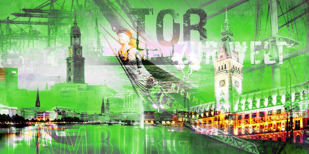 11275712 - Hamburg Tor zur Welt / Farbvariante