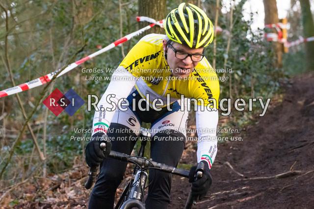 Radsport, Stevens Cyclocross Cup 2019, 10. Lauf (RSG Nordheide), Rennen 9 (Elite Herren + U23, Masters 2 / Elite Ü40 und Junioren U19), Buchholz i.d.N., 19.01.2020 | Sven Lorenzen (RV Concordia Hannover, #177, Masters 2)