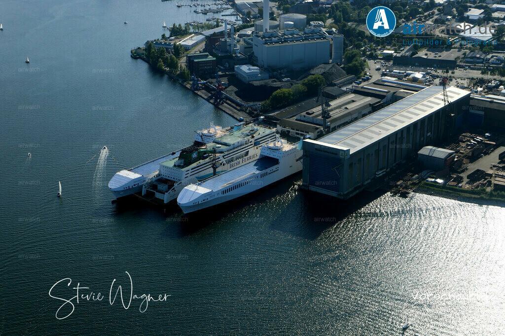 Luftbild Flensburger Foerde, Flensburger Schiffbau Gesellschaft FSG | Flensburger Foerde, Flensburger Schiffbau Gesellschaft FSG • max. 6240 x 4160 pix