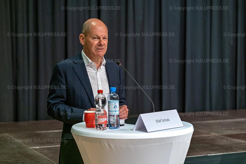 SPD Kandidaten WK61_2020_09_22-04904 | 22.09.2020, Teltow, Brandenburg, Bundesfinanzminister und SPD Kanzlerkandidat bei einer Rede im Ernst-von-Stubenrauch-Saal im Teltower