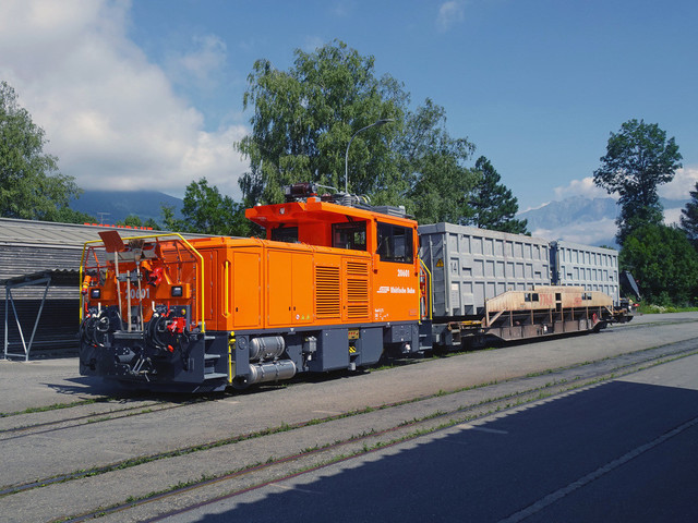 RhB Geaf 2/2 20601   Eine Rangierbewegung im Bahnhof Untervaz-Trimmis.