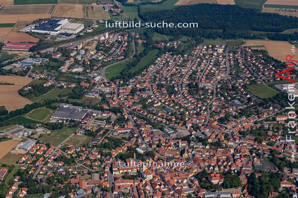uffenheim-19-737   aktuelles Luftbild von  Uffenheim - Luftaufnahme wurde 2019 von https://frankenair.de mittels Flugzeug (keine Drohne) erstellt.