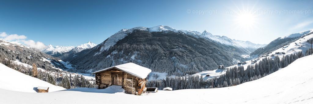 Tuxertal Panorama im Winter
