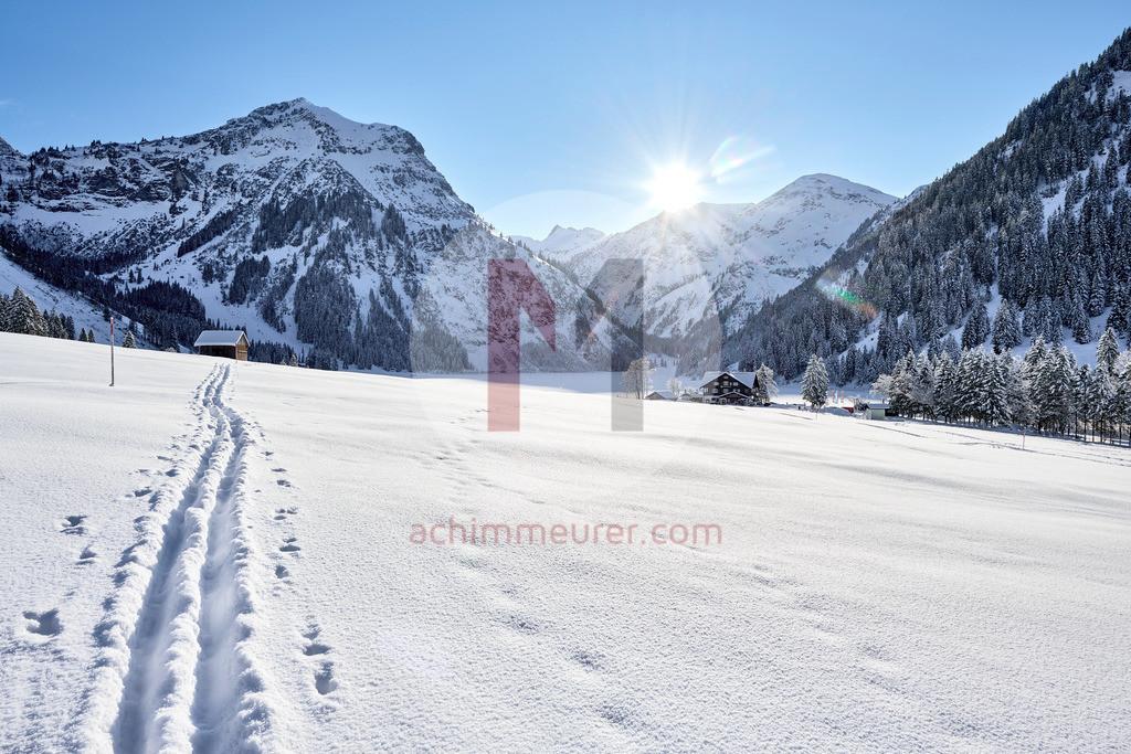 Winterlandschaft Vilsalpsee, Tannheimer Tal, Tirol, Österreich