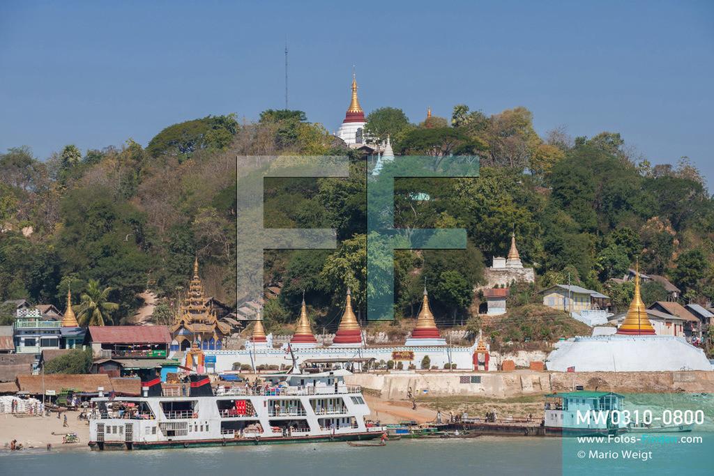 MW0310-0800 | Myanmar | Sagaing-Region | Reportage: Schiffsreise von Bhamo nach Mandalay auf dem Ayeyarwady | Stopp im Ort Tigyaing am Ayeyarwady  ** Feindaten bitte anfragen bei Mario Weigt Photography, info@asia-stories.com **