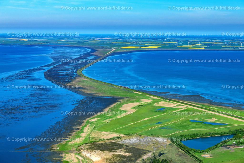 Sylt_Morsum_Rotes_Kliff_hindenburgdamm_ELS_4367310521   SYLT 31.05.2021 Bucht entlang der Meeres- Küste