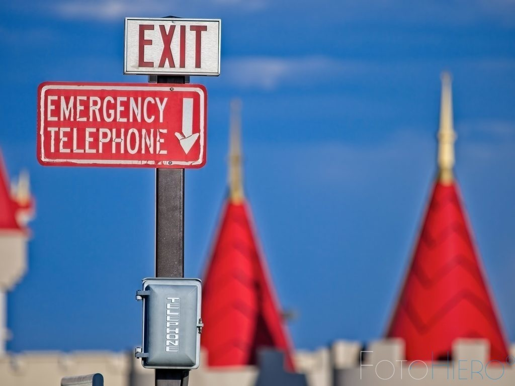 Exit 1   Emergency Telephone in Las Vegas