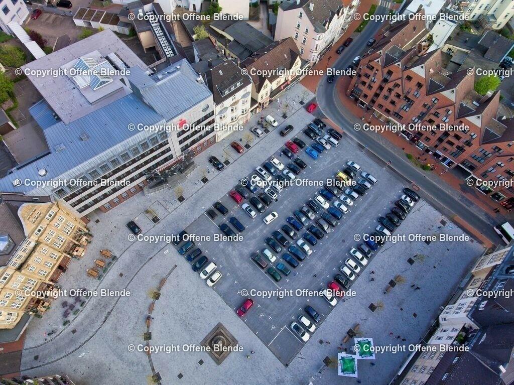 Luftbild Castroper Marktplatz | Der Marktplatz in der Altstadt von Castrop aus der Luft