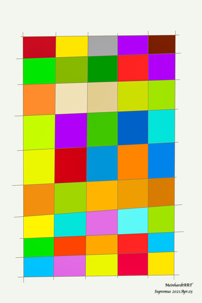 Supremus.2021.Apr.03 | Meine Serie SUPREMUS, ist für Liebhaber der abstrakten Kunst. Diese Serie wird von mir digital gezeichnet. Die Farben und Formen bestimme ich zufällig. Daher habe ich auch die Bilder nach dem Tag, Monat und Jahr benannt. Der Titel entspricht somit dem Erstellungsdatum. Um den ökologischen Fußabdruck so gering wie möglich zu halten, können Sie das Bild mit einer vorderseitigen digitalen Signatur erhalten. Sollten Sie Interesse an einer Sonderbestellung (anderes Format, Medium, Rückseite handschriftlich signiert) oder einer Rahmung haben, dann nehmen Sie bitte Kontakt mit mir auf.