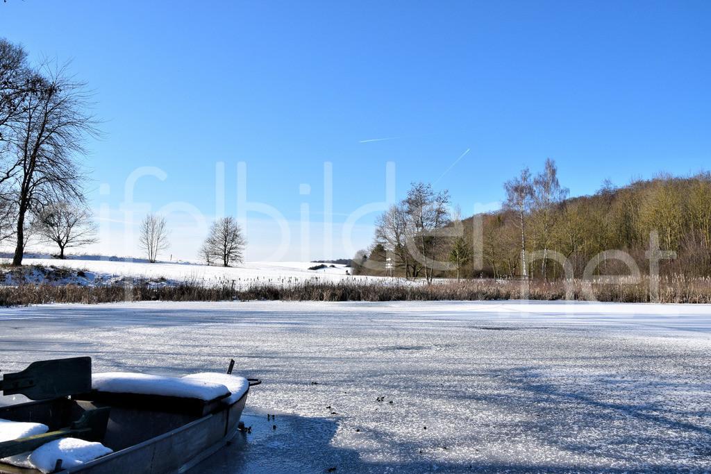 Winter am Holzmaar | Winterlandschaft am Holzmaar in der Eifel (Vulkaneifel)