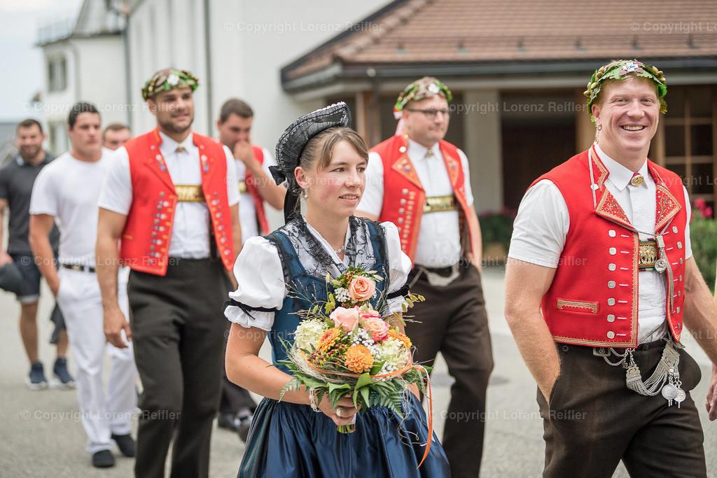 Schwingen -  Empfang Kranzgewinner, ESAF Zug 2019 2019 | Gais, 28.8.19, Schwingen - Empfang Kranzgewinner, ESAF Zug 2019. (Lorenz Reifler)