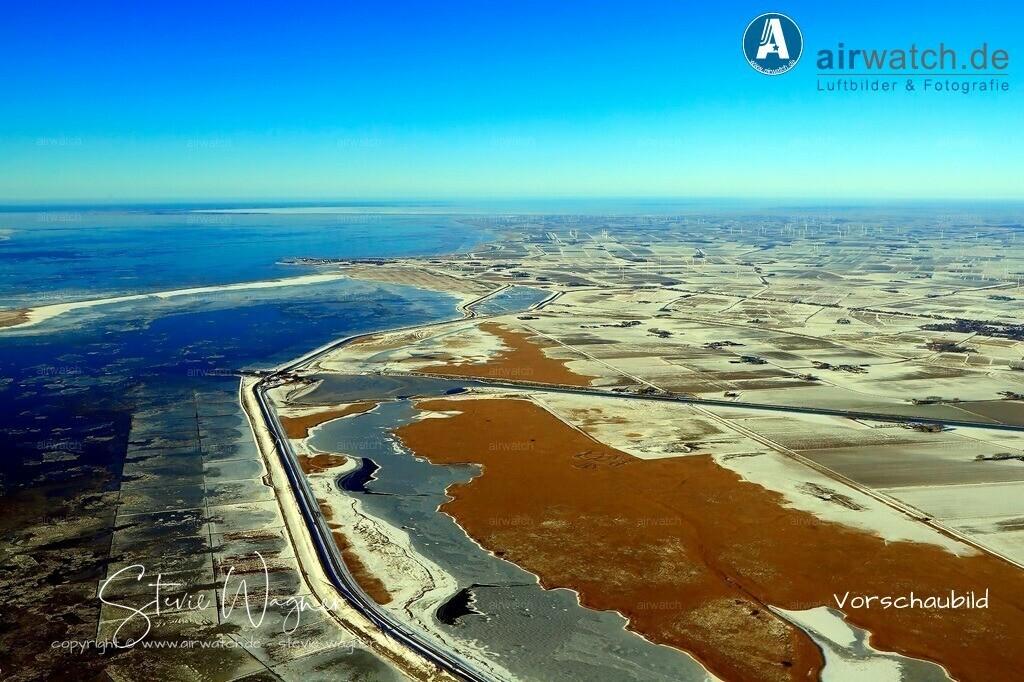 Luftbilder, Nordsee, Nordfriesland, Speicherbecken Schlüttsiel | Luftbilder, Nordsee, Nordfriesland, Speicherbecken Schlüttsiel