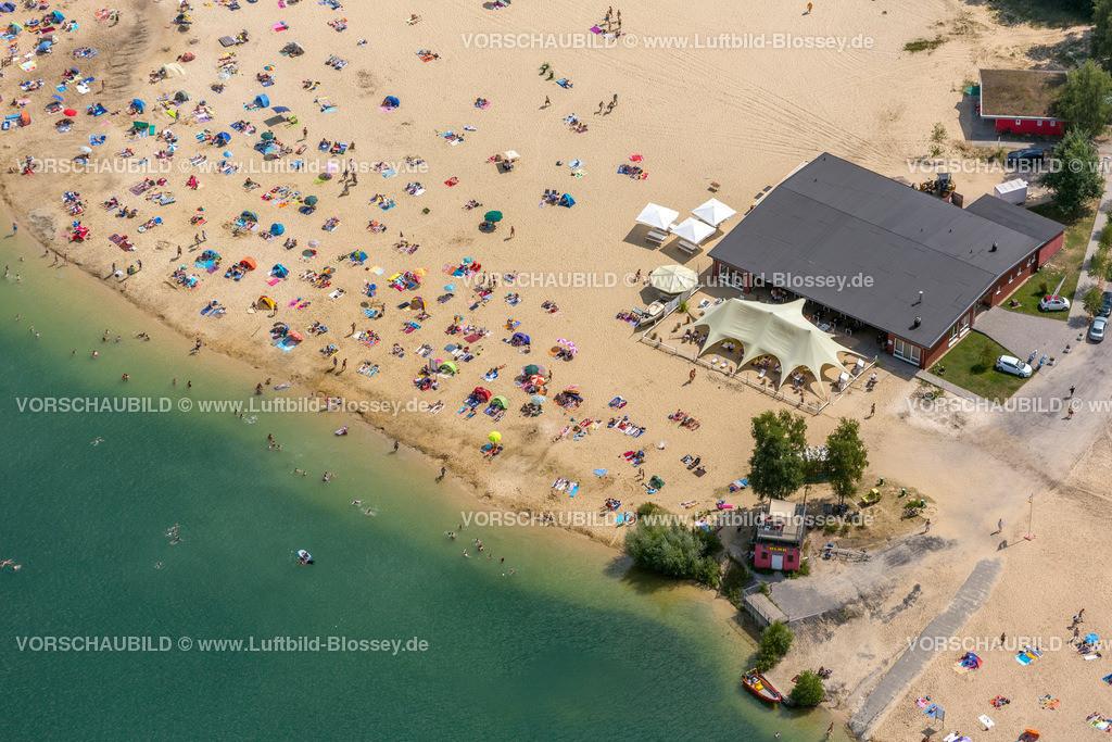 Haltern13081752 | Silbersee II aus der Luft, Sandstrand und türkisfarbenes Wasser, Luftbild von Haltern am See