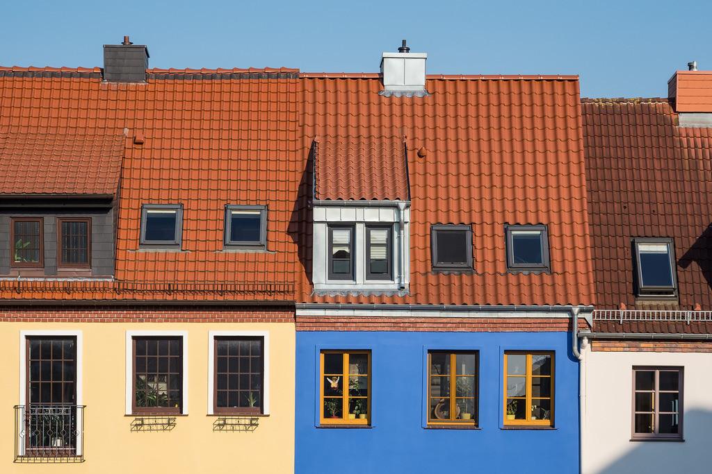 Blick auf Gebäude in der Stadt Rostock | Blick auf Gebäude in der Stadt Rostock.