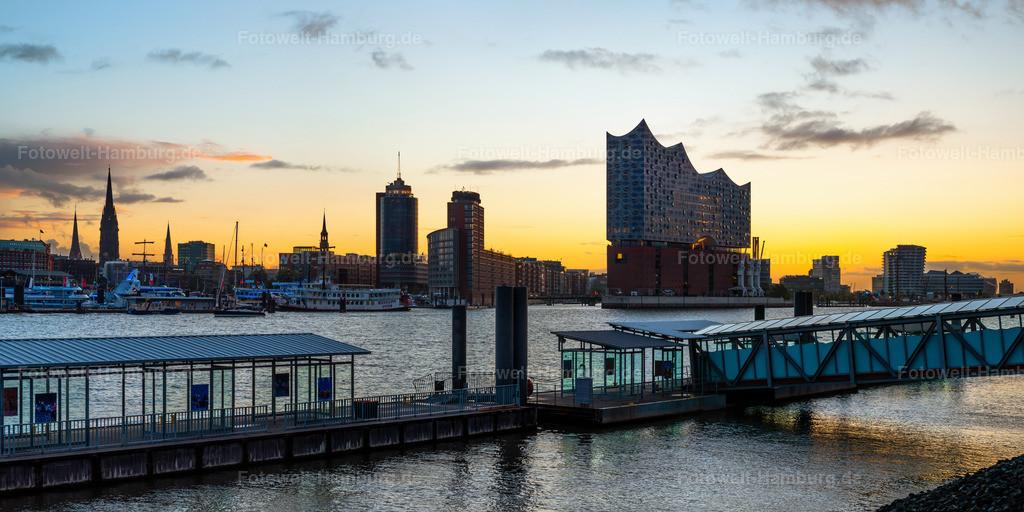 10200307 - Morgenlicht hinter der Hafencity | Blick auf die Elbphilharmonie und die Hafencity bei Tagesanbruch.