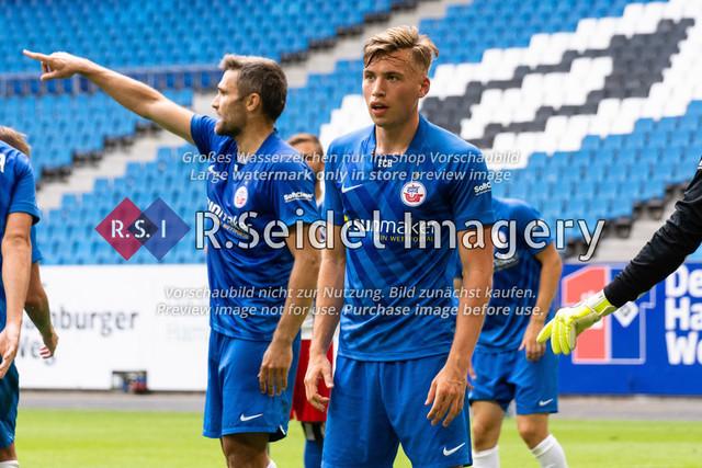 Fußball, Herren, Testspiel, Hamburger SV - FC Hansa Rostock, Volksparkstadion, 09.08.2020 | Oliver Daedlow (#25 Hansa Rostock)